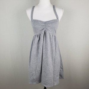PINK VS Gray Dress Elastic Back Cotton Blend MD